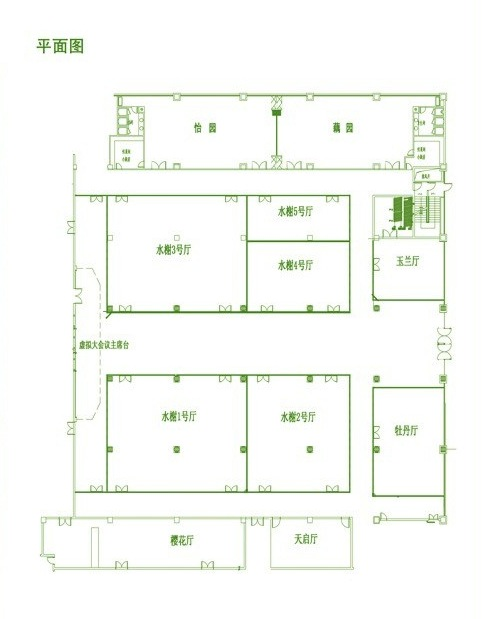 棋牌室顶棚平面图2;